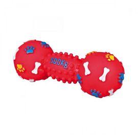Игрушка для собак Trixie Гантель с пищалкой 19 см (винил, цвета в ассортименте), фото