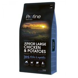 Сухой корм для щенков и молодых собак крупных пород (весом от 25 кг) Profine Junior Large Breed Chicken 15 кг (курица), фото
