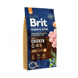 Сухой корм для взрослых собак средних пород (весом от 10 до 25 кг) Brit Premium Adult M 8 кг (курица), фото