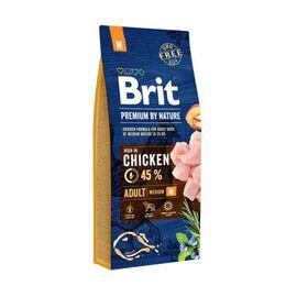 Сухой корм для взрослых собак средних пород (весом от 10 до 25 кг) Brit Premium Adult M 15 кг (курица), фото