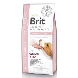 Сухой корм для собак, при пищевой аллергии Brit GF Veterinary Diet Hypoallergenic 12 кг (лосось), фото