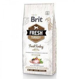 Brit Fresh Turkey/Pea Light Fit & Slim Adult 12 kg индейка,горошек для взрослых собак, фото