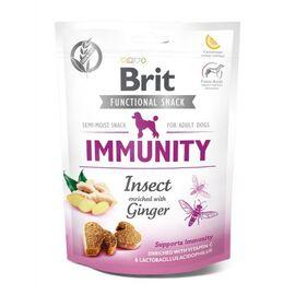 Функциональные лакомства Brit Care Immunity насекомые с имбирем для собак, 150 г, фото