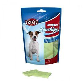Лакомство для собак Trixie Пластинки для чистки зубов со спирулиной Denta Fun 50 г, фото