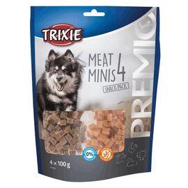 """Лакомство для собак """"PREMIO 4 Meat Minis"""" с курицей, уткой, говядиной и бараниной 4 x 100 г, фото"""