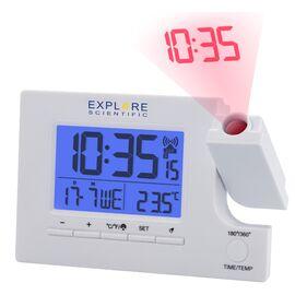 Часы проекционные Explore Scientific Slim Projection RC Dual Alarm White (RDP1003GYELC2), фото